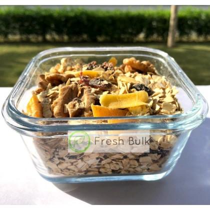 Mango Walnut Muesli 100g / convenient travel pack / trial pack