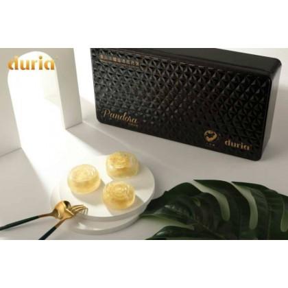 Black Gold Crystal Snowy Skin Moon Cake 黑金水晶猫山王-月光宝盒 (6pcs)