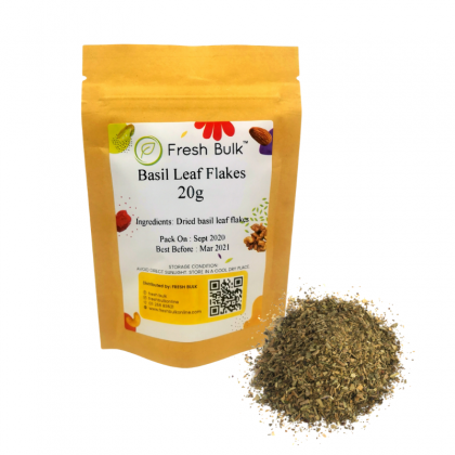 Fresh Bulk Basil Leaf Flakes 20g