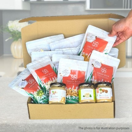 Fresh Bulk Nuts Butter & roasted nuts -  3 months subscription / 18 snacks / RM60 per month / FREE DELIVERY